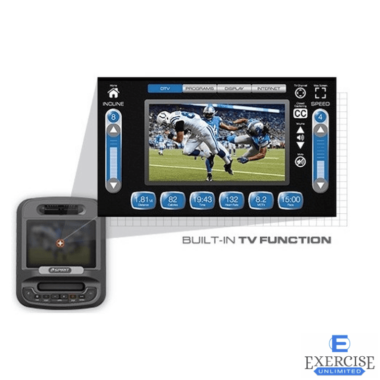 Spirit CE800ENT Elliptical Built-In TV Function